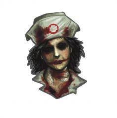 """Décoration découpée Asile - Collection """"Zombie"""""""