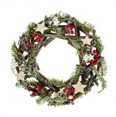 couronne-bois-sapin-decoration-noel | jourdefete.com