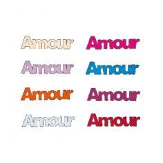"""Décoration de Table """"Amour"""" en Bois Sachet de 6 Coloris au Choix"""