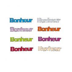 """Décoration de Table """"Bonheur"""" en Bois Sachet de 6 Coloris au Choix"""
