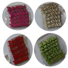 """Décoration de Table """" Toi et Moi"""" en Bois Sachet de 6 - Coloris au Choix"""