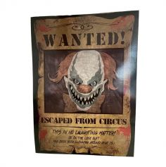 2 Affiches Clown Tueur Wanted
