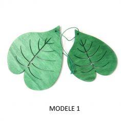 2 feuilles décoration suspension bois - Modèle au choix