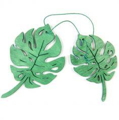 feuilles-tropicales-bois-decoration-exotique | jourdefete.com