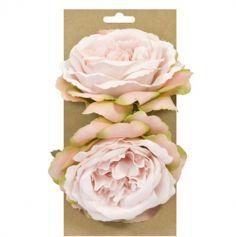 2 Roses à poser ou à attacher - Couleur au Choix