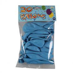 20 Ballons de Baudruche Unis Bleu | jourdefete.com