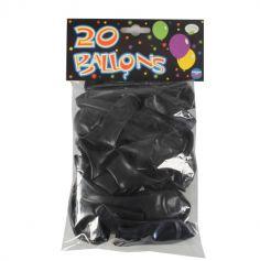20 Ballons de Baudruche Unis Noirs | jourdefete.com
