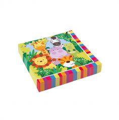 serviettes-papier-jungle-animaux|jourdefete.com