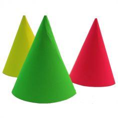 Lot de 6 chapeaux fluo