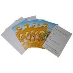 6 Invitations avec Enveloppes - Collection Cowboys et Indiens