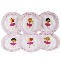 6 Assiettes 18 cm - Collection Ballerines