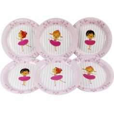 6 Assiettes 23 cm - Collection Ballerines