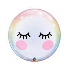 Ballon bulle avec cils - 56 cm