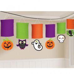 """Pack de 6 lanternes colorées - Collection """"Pumpkin"""""""