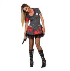 Déguisement Shérif Femme Zombie - Taille au Choix