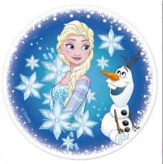 Disque en sucre pour gâteau - Reine des neiges Disney
