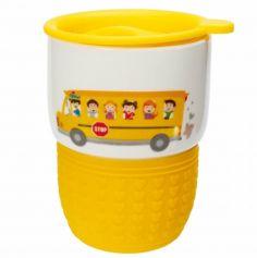 """Mug Hermétique """"Bus Scolaire"""" Jaune"""