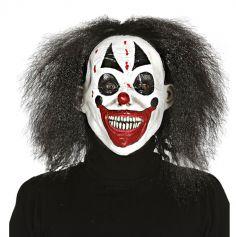 Masque en Latex - Clown avec Cheveux