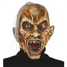 Masque en Latex de Zombie avec Cheveux