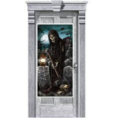 Décoration de Porte Ambiance Cimetière de l'Enfer