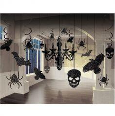 """Pack de décorations suspendues - Collection """"Black and Bone"""""""