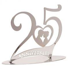 Décoration de Gâteau - Anniversaire de Mariage - Noces d'Argent - 25 ans