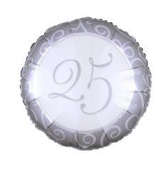 ballon aluminium helium 25 noces argent | jourdefete.com