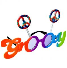 Lunettes multicolores Groovy - Peace & Love