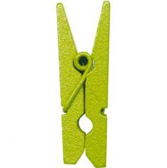 24 Mini Pinces en Bois - Vert