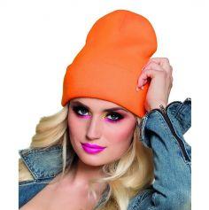 Bonnet Fluo Années 80 - Orange