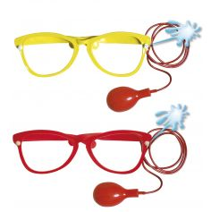 Maxi lunettes de clown lance-eau - Coloris au choix