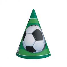 Chapeaux de fête x8 - Collection Soccer