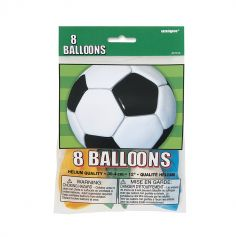 Pack de 8 ballons - Collection Soccer