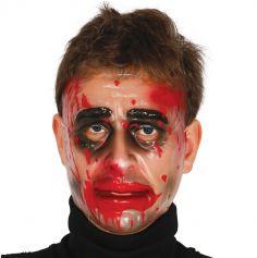 Masque transparent sanglant pour homme