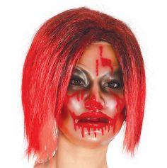 Masque transparent sanglant pour femme