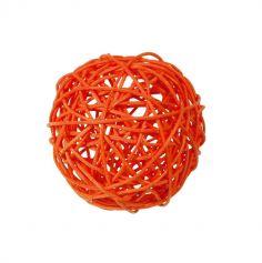 10 Boules en Rotin - Orange