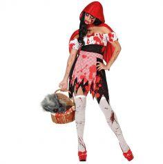 Déguisement de Chaperon Rouge Sanglant Femme - Taille au Choix