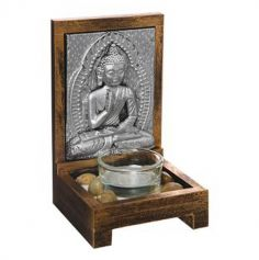 Bouddha Assis - Argent