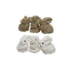 3 Lapins de Pâques en Mousse - Couleur au Choix