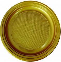 30 Assiettes Rondes en plastique - 22 cm - Couleur au Choix