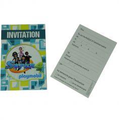 6 Cartes d'Invitation avec Enveloppes - Playmobil Super 4