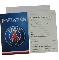 6 Cartes d'Invitation avec Enveloppes - PSG