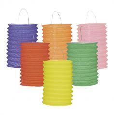 12 Lampions en Papier - 6 Coloris