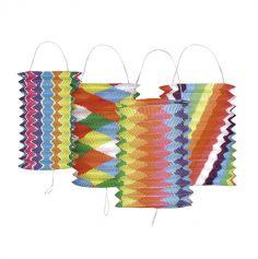 12 Lampions en Papier - Multicolore