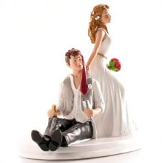 Figurines pour gâteau de mariage - Marié ivre