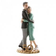 Figurine Couple Noces d'or 50 ans