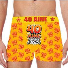 Boxer Festif Anniversaire 40 Ans