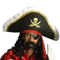 Moustache et Bouc avec Perles de Pirate