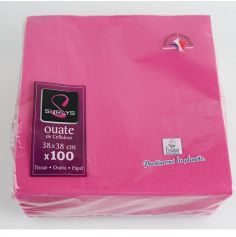 100 Serviettes Ouate de Cellulose - Framboise
