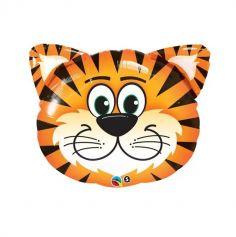 Ballon en aluminium Tête de Tigre mignon - 76 cm